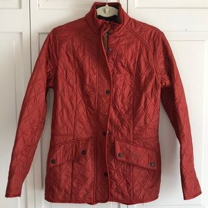 Barbour Cavalry Quilted Jacket size 8 rust